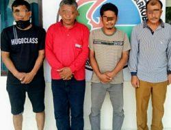 Sedang Asyik Nyabu, 4 Warga Taput Digelandang Polisi