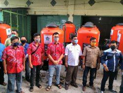 Tangki Air Cuci Tangan Siap Ditempatkan di Lokasi Keramaian; Bantuan PSMTI dan PT. WJL