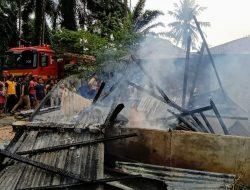 Ditinggal Melayat, Rumah Janda di Pinangsori Ludes Terbakar
