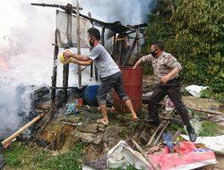 Rumah Terbakar Saat Istri dan Anak Nonton TV