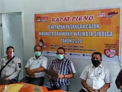 KPU Tetapkan Jamal-Pantas Calon Wali Kota dan Wakil Wali Kota Sibolga