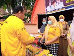 Partai Golkar Bantu Korban Kebakaran Pasar Belakang