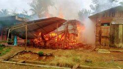 1 Unit Rumah di Kecamatan Lumut Terbakar saat Pemilik Sedang Istirahat